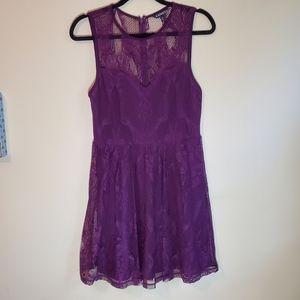 EXPRESS purple lace dress size M
